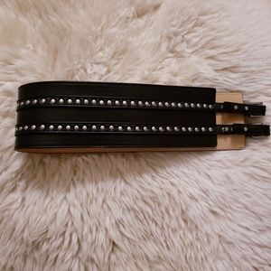 Wilfred studded wide leather belt